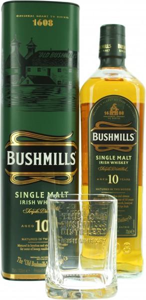 Bushmills 10 Jahre mit Glas