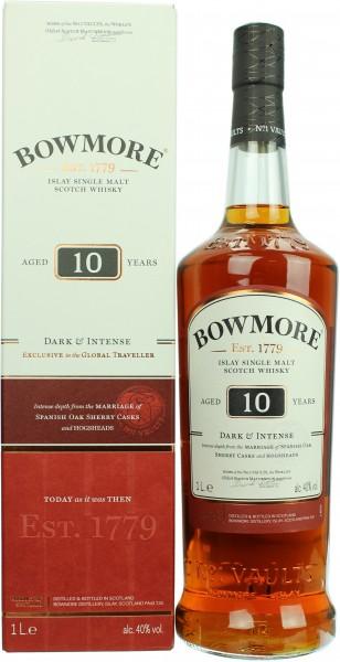 Bowmore 10 Jahre Dark & Intense40.0% 1 Liter