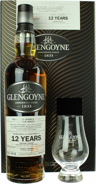 Glengoyne 12 Jahre Geschenkset mit Glencairn Glas 43.0% 0,7l
