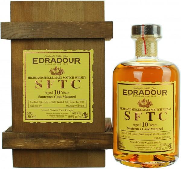 Edradour SFTC 10 Jahre 2008/2018 Sauternes Cask 60.8% 0,5l