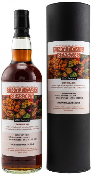 Strathmill 12 Jahre 2006 /2020 Sherry Single Cask Seasons Autumn 2020