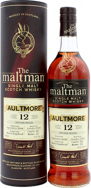Aultmore 12 Jahre 2008/2020 Sherry Cask The Maltman