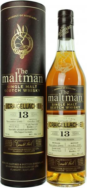 Craigellachie 13 Jahre 2003/2017 The Maltman 46.0% 0,7l
