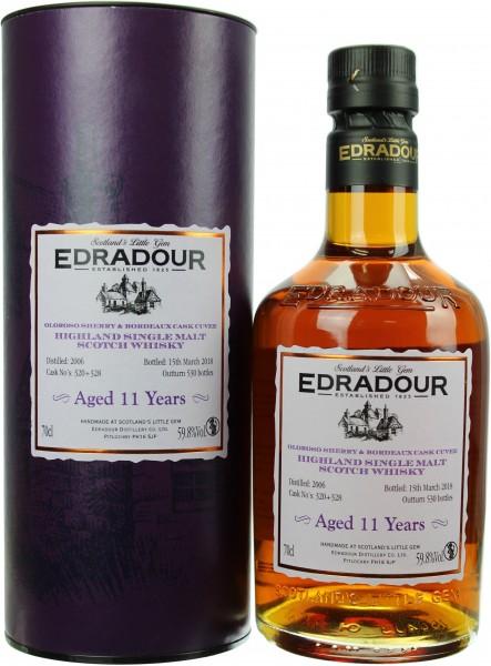 Edradour 11 Jahre 2006/2018 Oloroso Sherry & Bordeaux Cask Cuvee 59.8% 0,7l