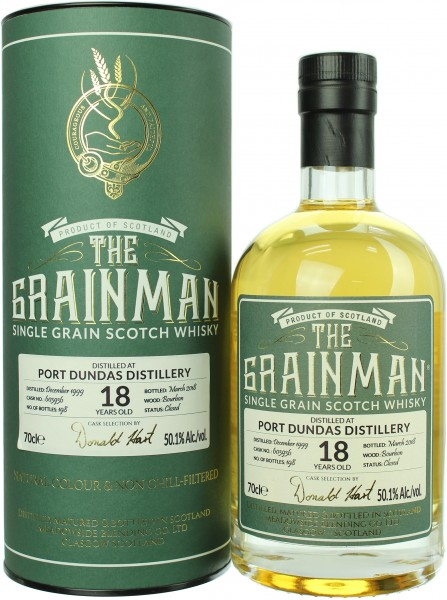 Port Dundas 18 Jahre 1999/2018 The Grainman 50.1% 0,7l