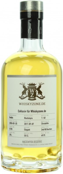 Mackmyra 7 Jahre Single Cask 2010/2017 Whiskyzone Exclusiv 49.9% 0,5l