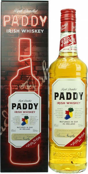 Paddy Irish Whiskey Coffret Metal Edition