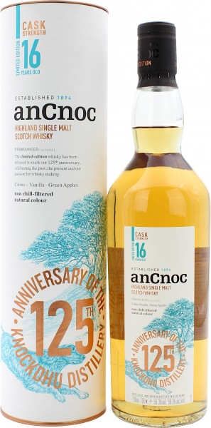 AnCnoc 16 Jahre Cask Strength 125th Anniversary