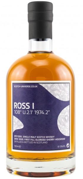 Ross I 9 Jahre 2010/2020 1st Fill Oloroso Sherry Cask Scotch Universe