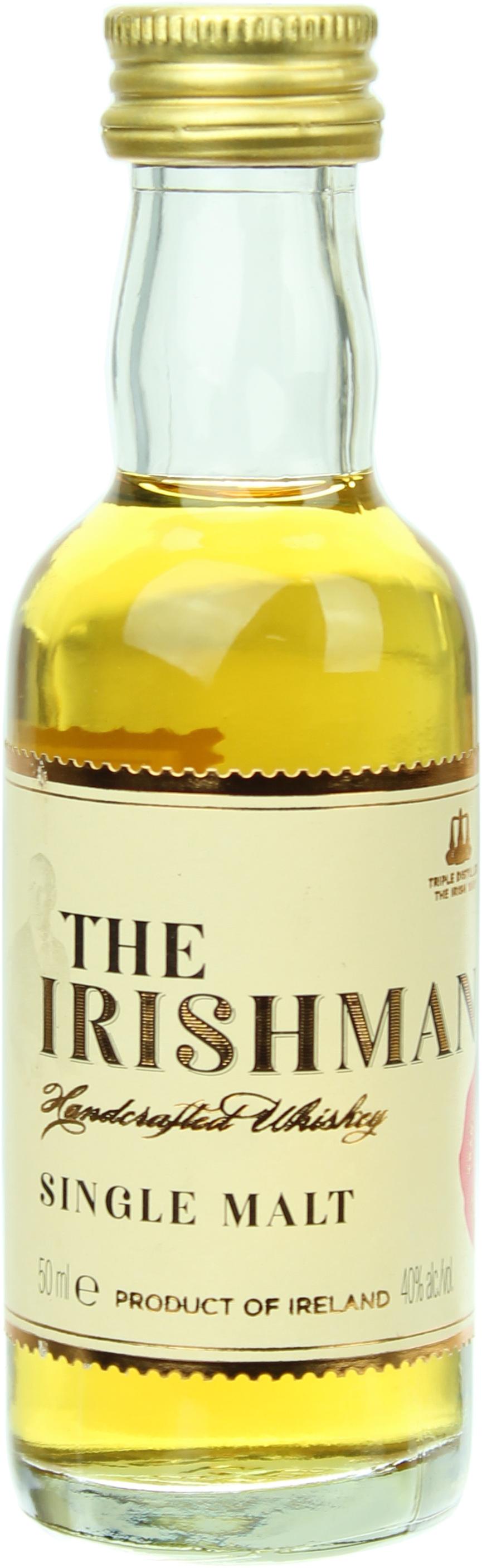 miniatur the irishman single malt whiskey 40 0 0 05l. Black Bedroom Furniture Sets. Home Design Ideas