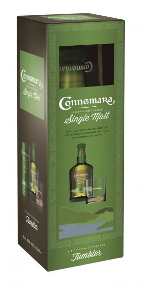 Connemara Peated mit Tumbler Glas