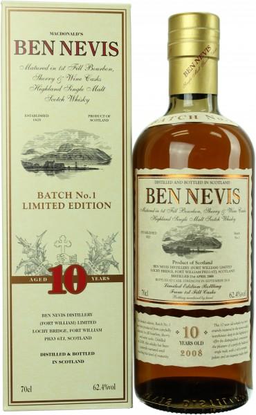 Ben Nevis 10 Jahre 2008/2018 Cask Strength 62.4% 0,7l