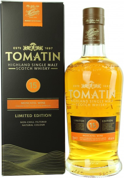 Tomatin 15 Jahre Moscatel Wine Finish 2003/2018 46.0% 0,7l