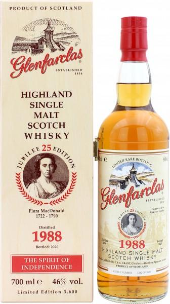 Glenfarclas Sherry Cask 1988/2020 Edition No.25 Flora MacDonald 46.0% 0,7l