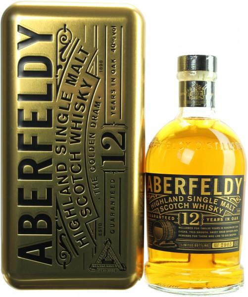 Aberfeldy 12 Jahre Metallbox Geschenkset 40.0% 0,7l