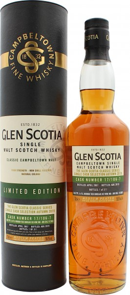 Glen Scotia 12 Jahre 2007/2019 Bordeaux Red Wine Finish