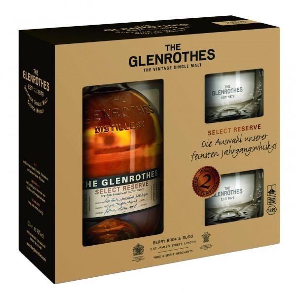Glenrothes Select Reserve Geschenkset mit 2 Tumblern 43.0% 0,7l