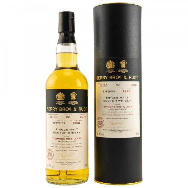 Tormore 26 Jahre 1992-2019 Charred Port Cask Berry Bros. & Rudd