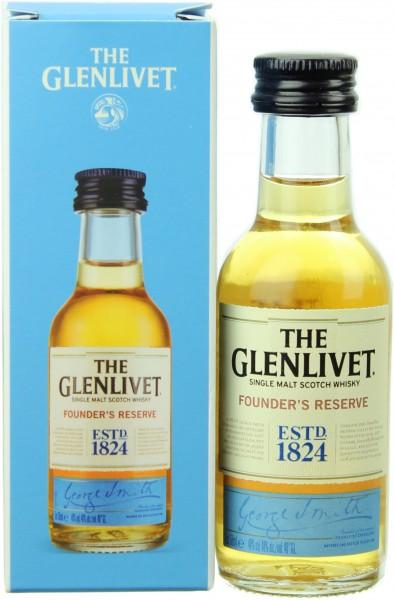 Miniatur Glenlivet Founders Reserve 40.0% 0,05l