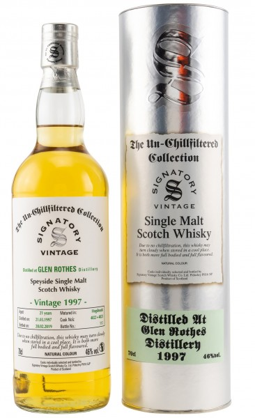 Glenrothes 21 Jahre 1997/2019 Signatory Un-Chillfiltered