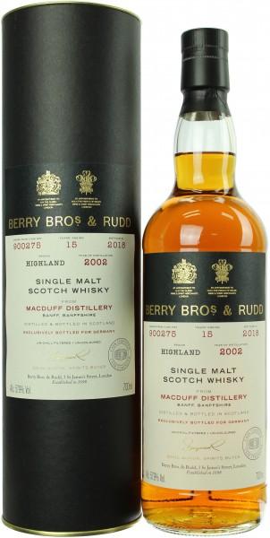 Macduff 15 Jahre 2002/2018 Sherry Cask Berry Bros. & Rudd 57.9% 0,7l