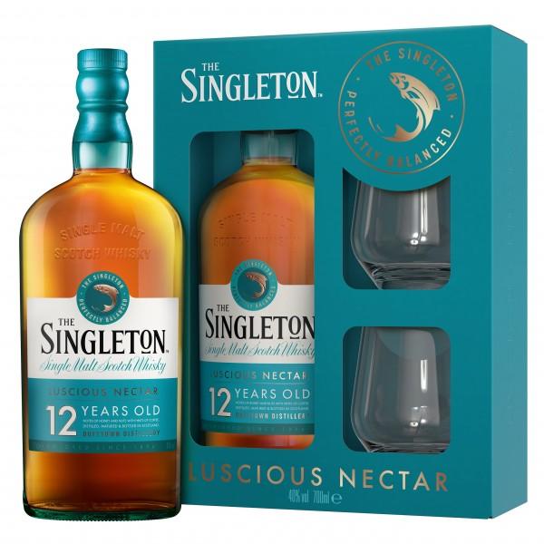 The Singleton of Dufftown 12 Jahre Geschenkset mit 2 Tumblern