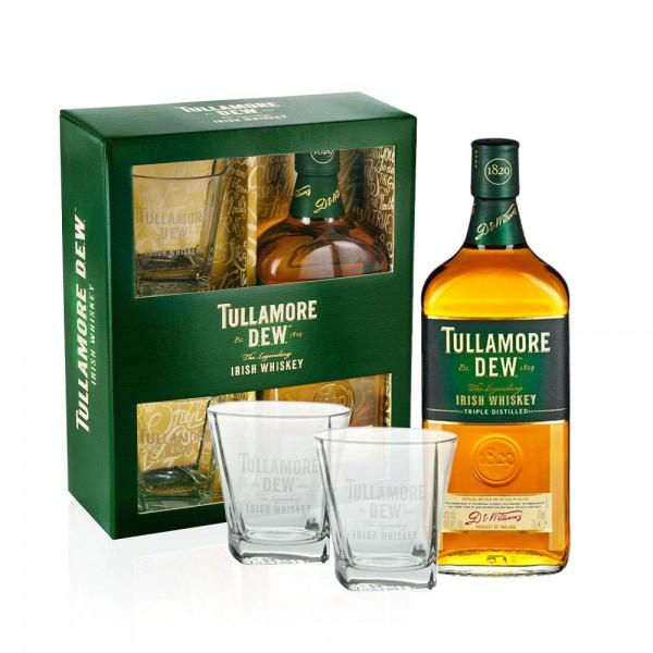 Tullamore Dew Geschenkset mit 2 Gläsern