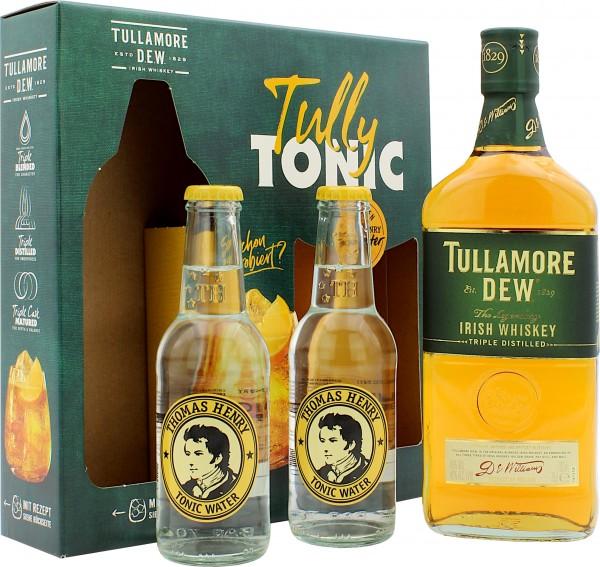 Tullamore Dew Geschenkset mit 2 Flaschen Thomas Henry Tonic Water 200ml