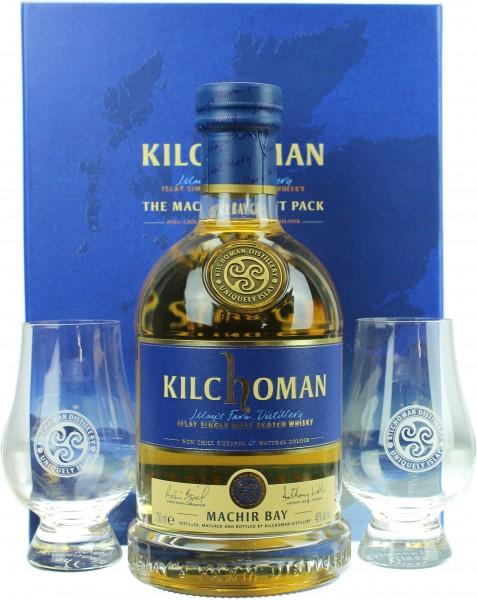 Kilchoman Machir Bay mit zwei Glencairn Gläser 46.0% 0,7l