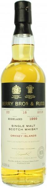 Orkney Islands Single Malt 18 Jahre 1999/2018 Berry Bros. & Rudd 53.6% 0,7l