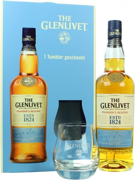 Glenlivet Founders Reserve mit einem Tumbler