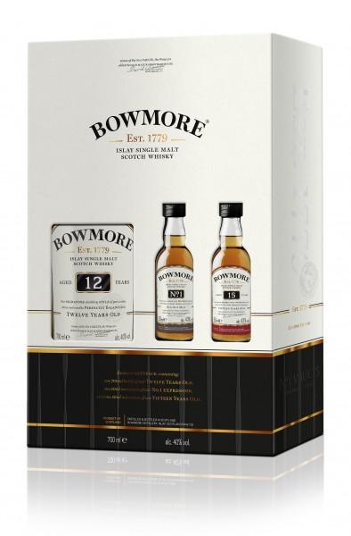 Bowmore 12 Jahre Geschenkset mit 2 Miniaturen 40.2% 0,8l