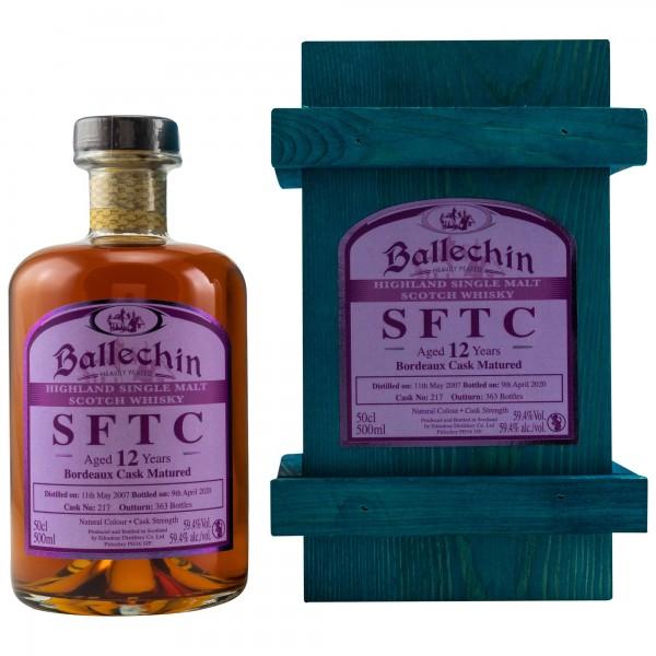 Ballechin SFTC 12 Jahre 2007/2020 Bordeaux Cask