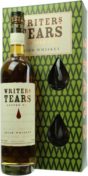 Writer´s Tears Geschenkset mit 2 Tumbler Gläsern