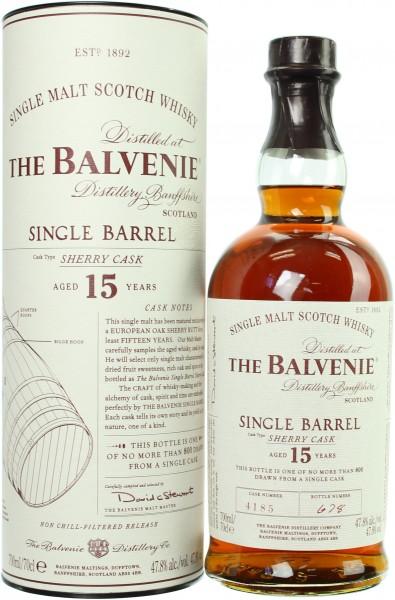 Balvenie Single Barrel Sherry Cask 15 Jahre Cask #4185