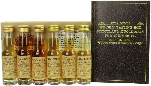 "Whisky Tasting-Box ""Single Malt für Einsteiger"" 45,22% 6x20ml"