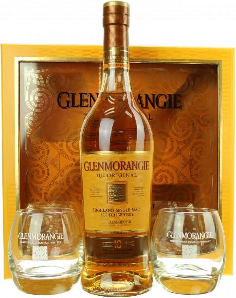 Glenmorangie Original 10 Jahre Geschenkset mit 2 Gläser 40.0% 0,7l