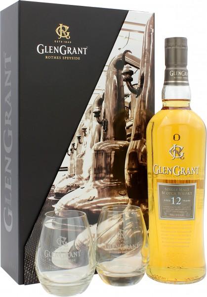 Glen Grant 12 Jahre Geschenkset mit 2 Gläsern