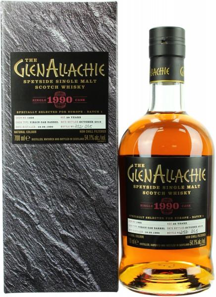 Glenallachie 28 Jahre 1990/2018 Virgin Oak Single Cask 54.1% 0,7l