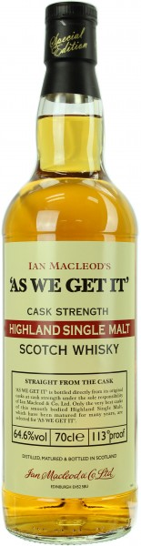 Ian Macleod's - As We Get It - Cask Strength Highland Sherry