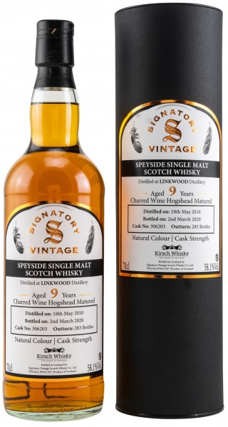 Linkwood 9 Jahre 2010/2020 Charred Wine Cask Signatory Cask Strength for Kirsch