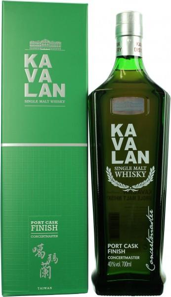 Kavalan Concertmaster Port Cask Finish 40.0% 0,7l