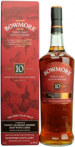 Bowmore 10 Jahre Devil's Cask Inspired 1 Liter