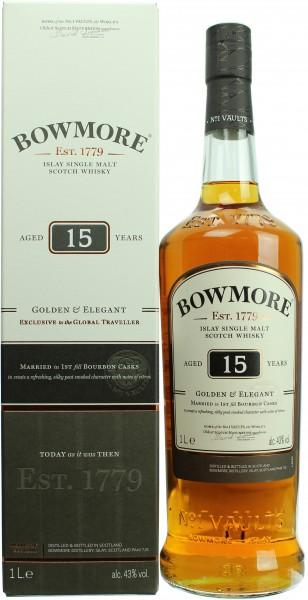 Bowmore 15 Jahre Golden & Elegant 40.0% 0,7l