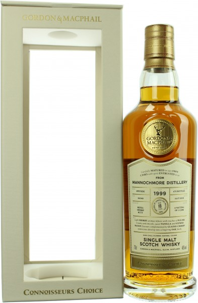 Mannochmore 18 Jahre 1999/2018 G&M Connoisseurs Choice 46.0% 0,7l