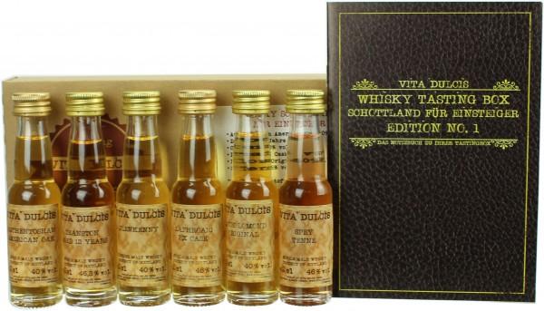 """Whisky Tasting-Box """"Schottland für Einsteiger"""" 43,38% 6x20ml"""