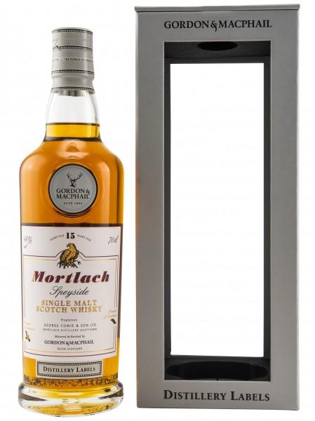 Mortlach 15 Jahre Distillery Label