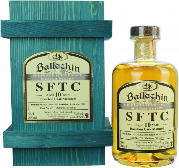 Ballechin SFTC 10 Jahre 2008/2018 Bourbon Cask 60.6% 0,5l
