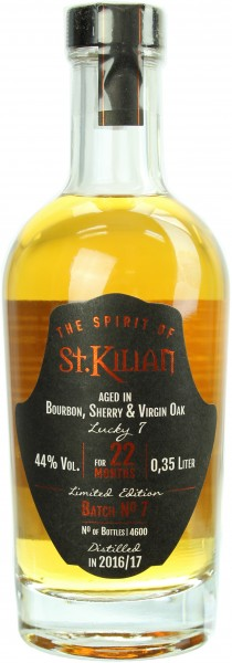 The Spirit of St. Kilian Batch No.7 Triple Cask 44.0% 0,35l