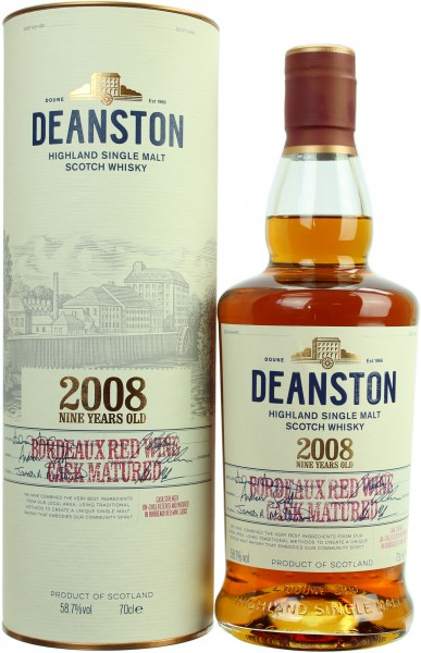 Deanston 9 Jahre Bordeaux Red Wine Cask 2008/2017 58.7% 0,7l